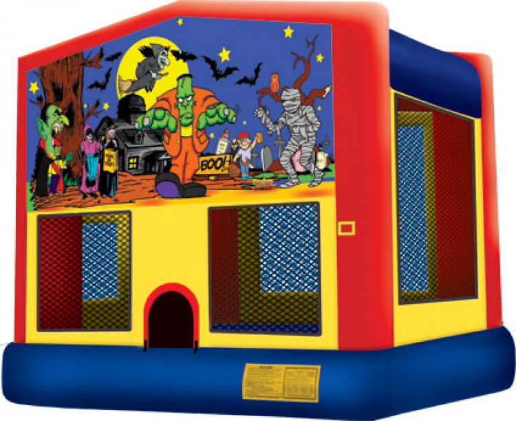 Halloween Banner Bounce House